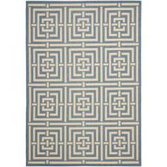 @Overstock - Ideal for giving your outdoor space a lift, from a backyard area to a deck or patio, this blue polypropylene rug will endure the elements for long-lasting comfort and beauty. Its stylish geometric pattern would look great on a pool deck.http://www.overstock.com/Home-Garden/Poolside-Blue-Bone-Indoor-Outdoor-Rug-53-x-77/6551563/product.html?CID=214117 $104.99