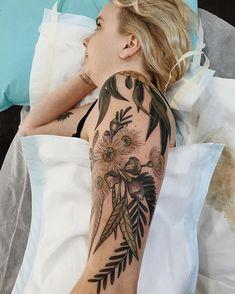 nice Body - Tattoo's - Tassie blue gum and wattle ❤️ Piercings, Piercing Tattoo, Arm Tattoo, Tattoo You, Pretty Tattoos, Love Tattoos, Beautiful Tattoos, Body Art Tattoos, Small Tattoos