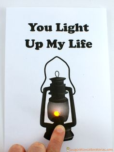 Push Button Light Up Card - such a fun card idea!