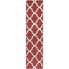Safavieh Hand-made Cambridge Rust/ Ivory Wool Rug (2'6 x 8') | Overstock.com