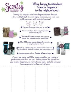Tear-off sheet! Edit with your info and have it reapproved <3 Super cool! https://gabiisigler.scentsy.us/