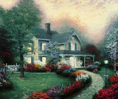 'Home Is Where The Heart Is' by Thomas Kinkade