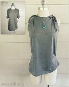 WobiSobi: 5 Minute No-Sew Tee: DIY