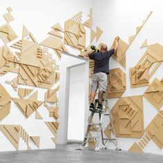 Light and shadow activates Matt W. Moore's topographic mosaics at 886 Geary Gallery - News - Frameweb