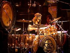 John Bonham with his legendary Ludwig Amber Vistalite Kit John Bonham, Led Zeppelin, Hard Rock, Punk, Heavy Metal, Rock N Roll, Best Drums, Ludwig Drums, Pictures Of Lily