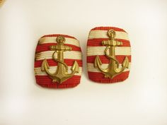 Two Vintage Military Navy Coast Guard by NeatstuffAntiques on Etsy, $25.00