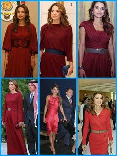 royalsandquotes:  Royal Ladies in RED - Queen Rania of Jordan