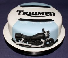 Cupcake Prices, Motorbike Cake, Triumph Motorbikes, Dad Birthday, Birthday Cakes, Cake Sizes, 12 Cupcakes, Cute Turtles, Angel Cake