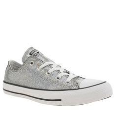 Converse Silver All Star Glitter Shine Ox Trainers