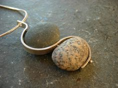 double making waves beach stone necklace. $115.00, via Etsy.