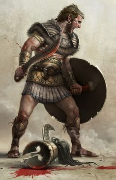 Spartan Warrior by Komix art Fantasy Male, Fantasy Warrior, Fantasy Rpg, Age Of Empires, Character Portraits, Character Art, Hero Marvel, Warrior Images, Warriors Pictures
