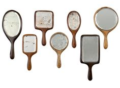 Love these!!! Old hand mirrors!!! great idea!