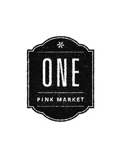 One Pink Market - B/W Logo Comp by ed deezy, via Flickr