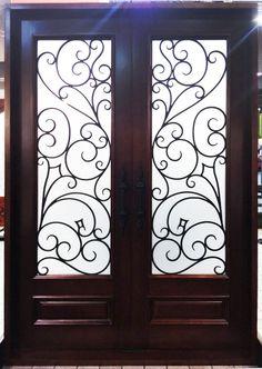 Genoa. Wood and Wrought Iron Door