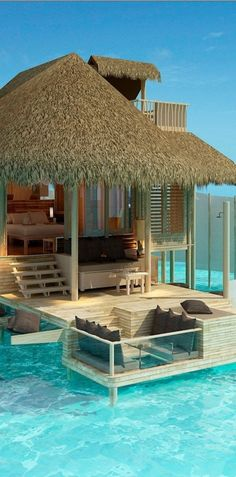 Beautiful views of the Indian Ocean from the Six Senses Resort Laamu ~ in the Maldives