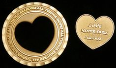 MARRIAGE COMMITMENT COIN by CRU Military. This 1-3/4-inch coin consists of two parts which fit together to complete the design—symbolizing the completion that takes place between a husband and wife in marriage. When separated by deployment, each spouse can carry one part of the coin. At the end of the deployment, put your coin back together, symbolizing your reintegration. #military #marriage www.operationwearehere.com/militarymarriage.html