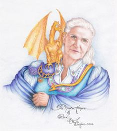 Anne McCaffrey (1926-2011). First woman to win a Hugo and a Nebula award for writing. Author of, among others, the Dragonriders of Pern series, and The Ship Who Sang.