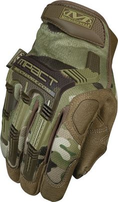 Gloves, Tactical, MultiCam M-Pact, Form Fitting, Flexibile