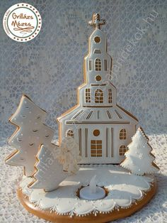 Beautiful Sweet Studio: Gingerbread Cake Maker and Decorating Courses: My students work Christmas Sugar Cookies, Christmas Treats, All Things Christmas, Christmas Home, Merry Christmas, Christmas Decorations, Cookie Cottage, Cookie House, Gingerbread Cake