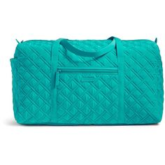 Vera Bradley Large Duffel ($108) ❤ liked on Polyvore featuring bags, luggage and vera vera turquoise sea