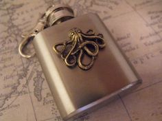 Your place to buy and sell all things handmade Octopus, Gifts For Women, Steampunk, Bronze, Mini, Handmade Gifts, Key Chain, Flasks, Accessories