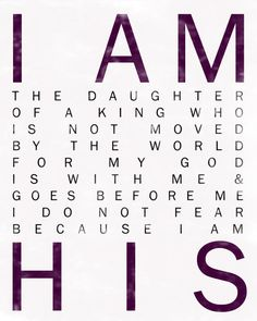 I Am His. Christian Wall Art. Nursery Wall Art. Children's Room Decor. Baby Girl…