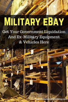 Interested in some ex-government and ex-military equipment? If so, you've come to the right place...