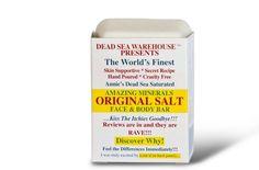 Dead Sea Amazing Minerals Original Salt Face & Body Care Bar - 3.5 oz Dead Sea Warehouse, Inc. http://www.amazon.com/dp/B0090F0PLA/ref=cm_sw_r_pi_dp_oomUvb0FFFF7D