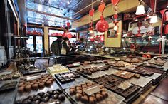 "Formerly an award-winning pastry chef at renowned NYC restaurant Le Cirque, the self-proclaimed ""Mr. Chocolate"" has whipped up a sweet paradise for. New York Desserts, New York Shopping, Empire State Of Mind, Nyc Restaurants, Travel Plan, Candy Store, Love Chocolate, Trip Planning, New England"