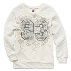 Knit Works Quilted Sleeve Sweatshirt - Girls 7-16  found at @JCPenney