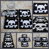 Free Plastic Canvas Crosses | deviantART: More Like Set of 4 Plastic canvas Jack O Lantern coasters ...