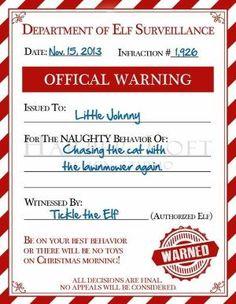 elf on the shelf report by savannah