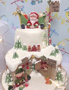 Image result for elves workshop christmas cake