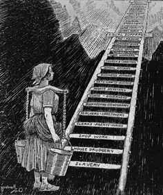 This political cartoon shows any of the obstacles on the way to equal suffrage. At the bottom is slavery. Then housework, the towards the top is suffrage. Up To The Sky, Right To Vote, Feminist Art, Cartoon Shows, Political Cartoons, Political Posters, Political Art, Library Of Congress, Women In History