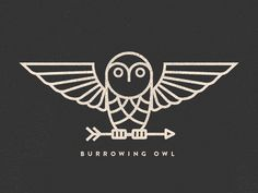 Burrowing Owl  by Alex Eiman #Design Popular #Dribbble #shots