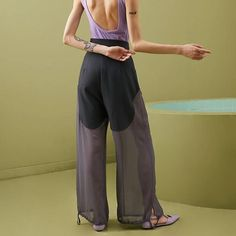 Lost Sailor Sheer Trousers Harem Pants, Trousers, Cropped Blazer, Sailor, Spandex, Lost, Model, How To Wear, Composition