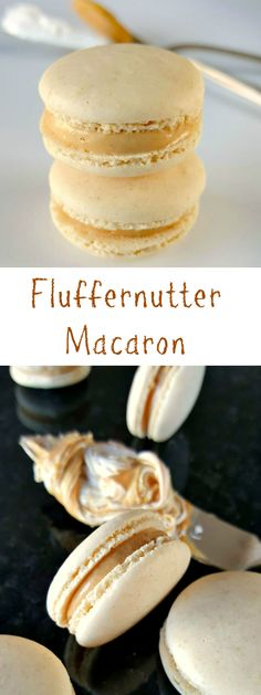 A childhood favorite becomes an adult favorite. These Fluffernutter Macaron taste like the fun sandwich in an elegant macaron. A childhood favorite becomes an adult favorite. These Fluffernutter Macaron taste like the fun sandwich in an elegant macaron. French Macaroon Recipes, French Macaroons, Mini Macaron Recipe, Köstliche Desserts, Delicious Desserts, Dessert Recipes, Plated Desserts, Macaroons Flavors, French Macarons Recipe Flavors