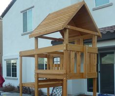 Placing the Roof on a Backyard Play Set, Solo!