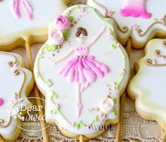 with a classic and delicate Ballerina ! **One of my favorite Plaque cookie cutter is available for sale at Sweet Cookies, Iced Cookies, Fun Cookies, Sugar Cookies, Cookie Pops, Cookie Designs, Sugar Art, Sugar Flowers, Edible Art