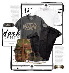 """Menswear Essential: Dark Denim"" by dawn-scott ❤ liked on Polyvore featuring Versace, Gap, Paige Denim, Topman, Skagen, NIKE, Dsquared2, Ray-Ban, men's fashion and menswear"