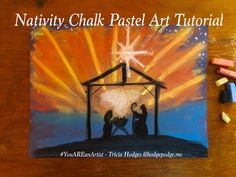In this nativity chalk pastel art lesson we will focus on the scene the night of the birth of Jesus! You ARE an Artist!