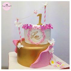Gâteau haute couture rose