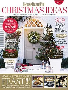 Some Inspriation In This Beautiful Issue ...House Beautiful Christmas Ideas  Magazine   Christmas