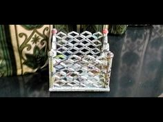 How to make a newspaper basket - YouTube
