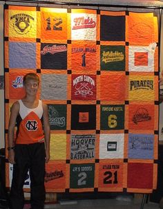 tshirt quilt .. would be a good idea with all of the tshirts jake likes to save from his youth