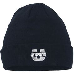 f1b0719eb41 Utah State Aggies Top of the World Simple Knit Hat with Cuff - Navy Blue  Utah