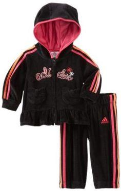 adidas Baby-Girls Infant 2 Piece Princess Velour Set, Black, 12 Months adidas. $27.46
