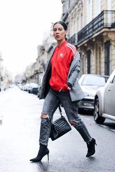 Veste adidas idée de look automne hiver ——-> ledressingapaillettes