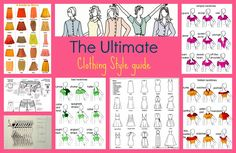 clothing style guide, pattern names, drafting tutorials, sewing patterns free