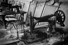 Old Sewing Machine Photograph by Giovanni Chianese - Old Sewing Machine Fine Art